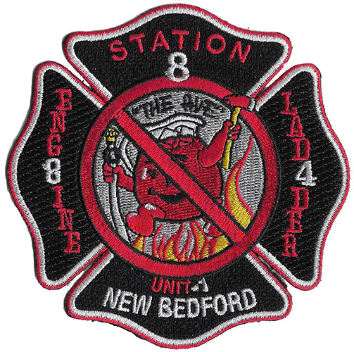 "NEW BEDFORD, MA E-8 L-4 ""Cool Adie"" Patch"