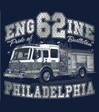 Philadelphia Engine 62 Navy Tee