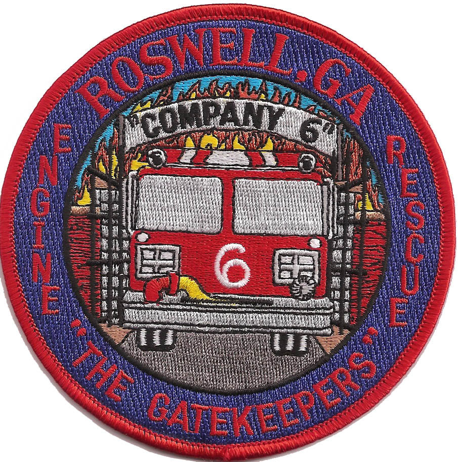Roswell, Ga. Engine Rescue Co. 6 Patch