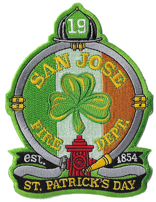 San Jose Fire Station 19 St. Patrick's Day Fire Patch