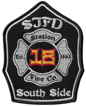 San Jose, CA Station 18 South Side Fire Patch