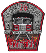 San Jose, CA Station 26 Night Train Fire Patch