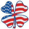 Shamrock Design USA Flag Patch