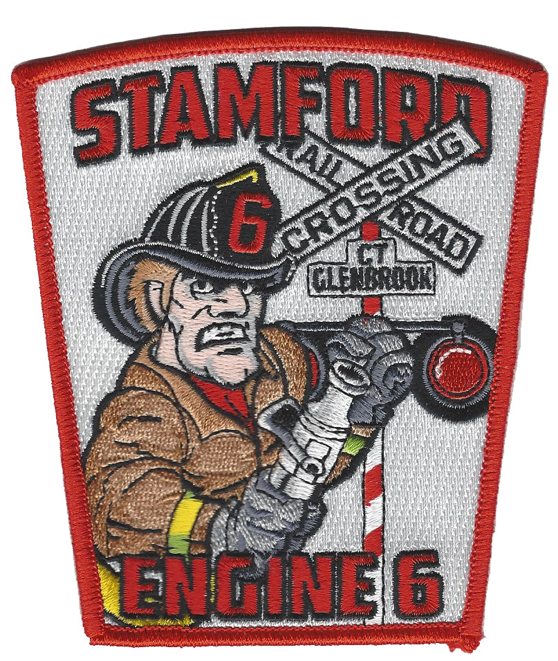 Stamford, CT Engine 6 Train Rail Road Fire Patch