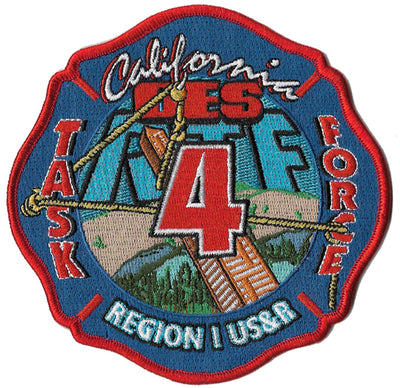 California USAR Task Force 4 Fire Patch