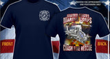 U.S. Marine Corps Crash Fire Rescue Multi-Color Navy Tee