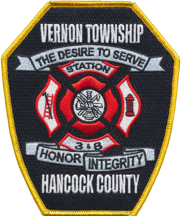 VERNON TOWNSHIP STATION 3 & 8 HANCOCK COUNTY  FIRE PATCH