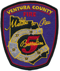 Ventura, CA Battalion 5 Fire Patch