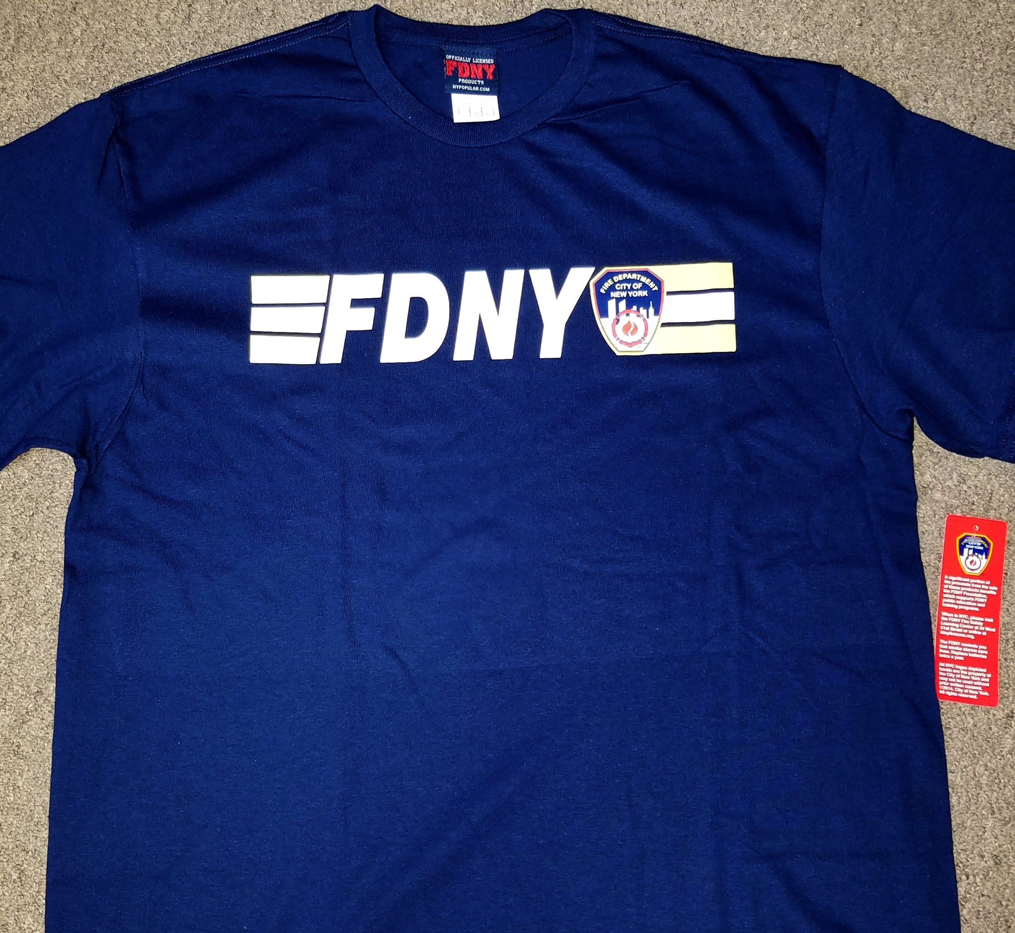 FDNY KEEP BACK 200 FEET SHORT SLEEVE TEE SHIRT