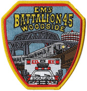 New York City Battalion 45 Woodside EMS Patch