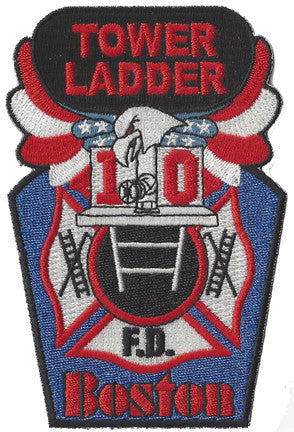 Boston Tower Ladder 10 Black Top Original Patch