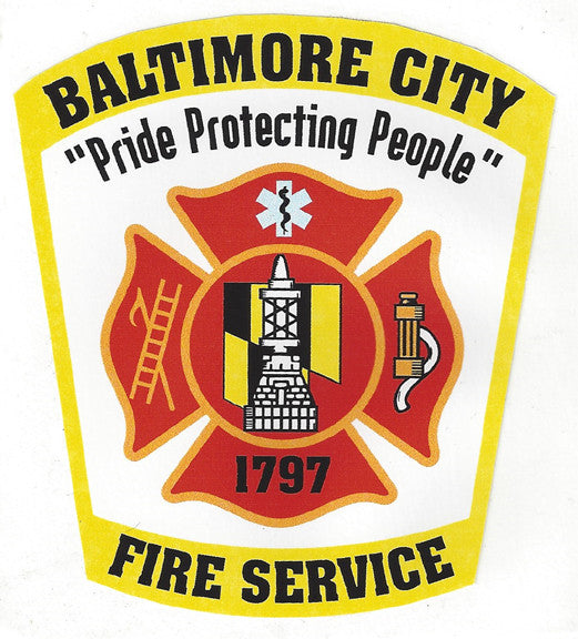 "Baltimore City 4"" Vinyl Decal"