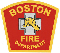 "Boston Fire Department 4"" Vinyl Decal"