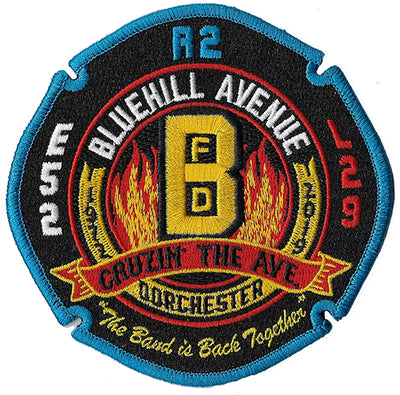 Boston Engine 52 Ladder 29 Rescue 2 Cruzin the Ave. New Black Patch