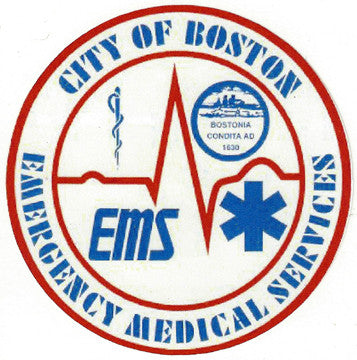 "Boston EMS 4"" Vinyl Decal"