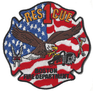 Boston Rescue 1 Eagle Design Patch