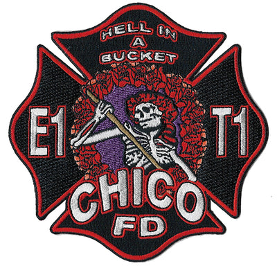 Chico, CA Station 1 Hell In A Bucket Skull Fire Patch Patch