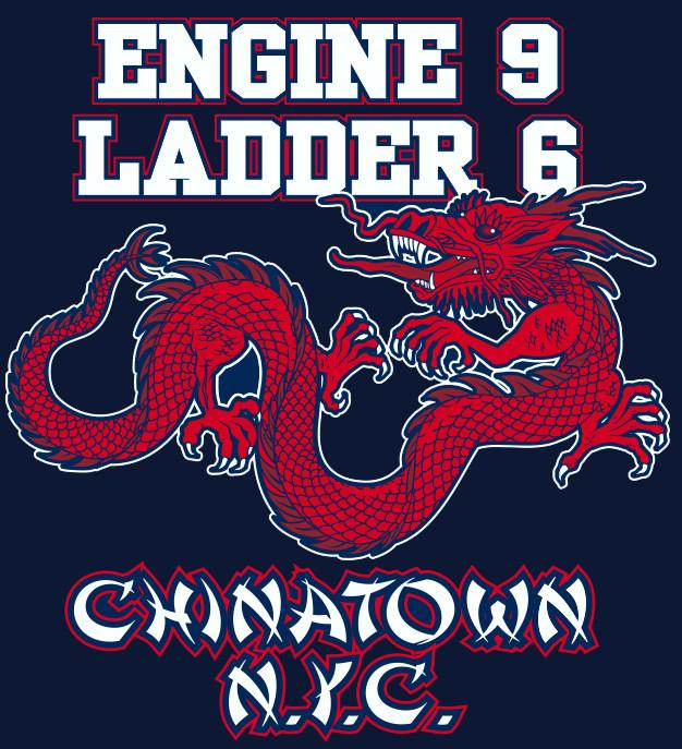 New York City Chinatown Engine 9 Ladder 6 Navy Tee