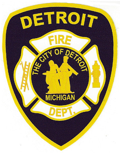"Detroit Fire Department 4"" Vinyl Decal"