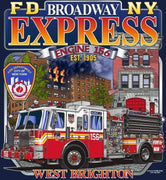 "FDNY Engine 156 ""Broadway Express"" Navy Tee"