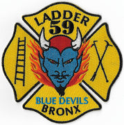 New York City Ladder 59 Bronx Blue Devils Patch