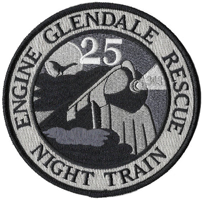 Glendale, CA  Engine 25 Night Train Fire Patch