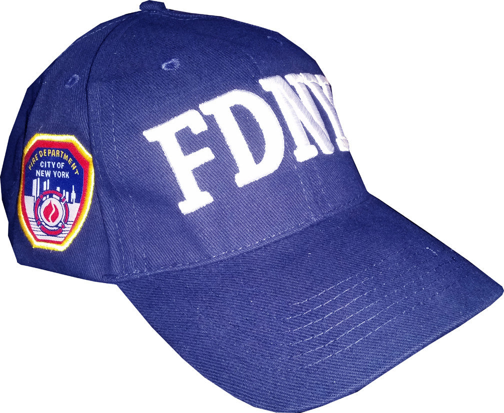 FDNY Embroidered Navy Hat - White Stitching
