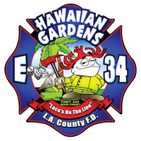 LA County Station 34 Hawaiian Gardens Navy Tee - Medium Only