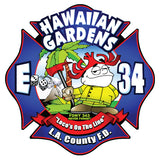 LA County Station 34 Hawaiian Gardens Navy Tee