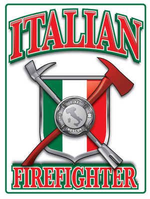 Italian Firefighter Vinyl Decal