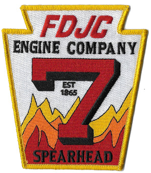 Jersey City Engine 7 Spearhead White Design Patch