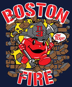 Boston Tower Ladder 3 Kool Aid Navy Tee
