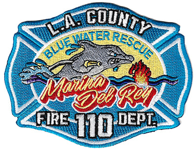 LA County Station 110 Blue Water Rescue Fire Patch