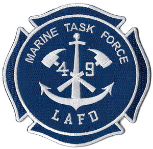 LAFD Marine Task Force 49 Anchor Design Patch