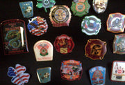 Lot of 10 Fire Department Lapel Pins