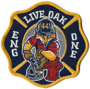 "Rockville Center, NY  ""Live Oak"" Engine One Patch"