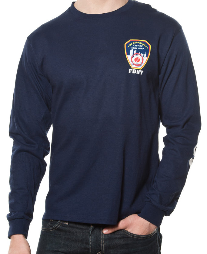 FDNY KEEP BACK 200 FEET Long Sleeve Tee Shirt