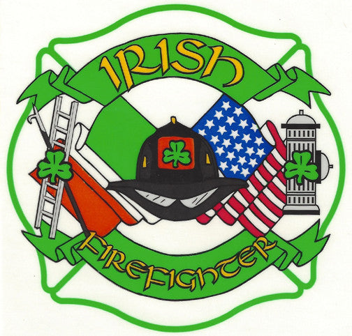 Irish Firefighter Maltese Cross Decal