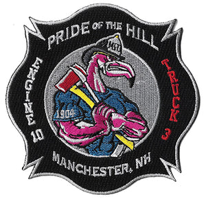 Manchester, NH Engine 10 Truck 3  Pride of the Hill New Design  Fire Patch