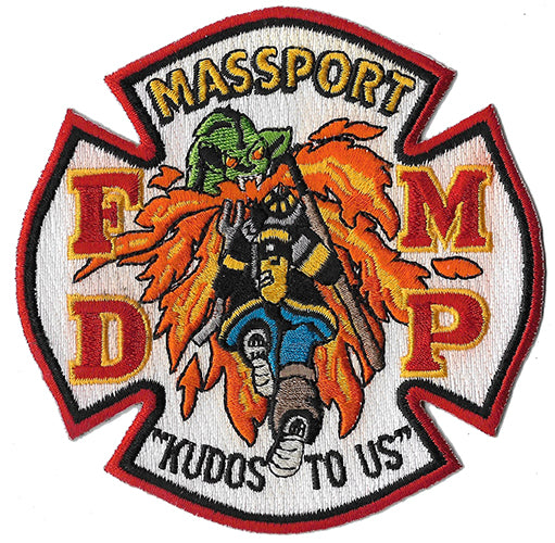 Boston Massport Logan Airport Crash Rescue Fire Patch
