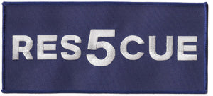 "Rescue 5 Large Back Jacket Patch 9"" x 4"""