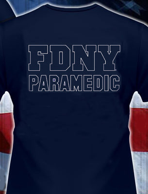 FDNY PARAMEDIC  Navy Station Tee - 3XL Only