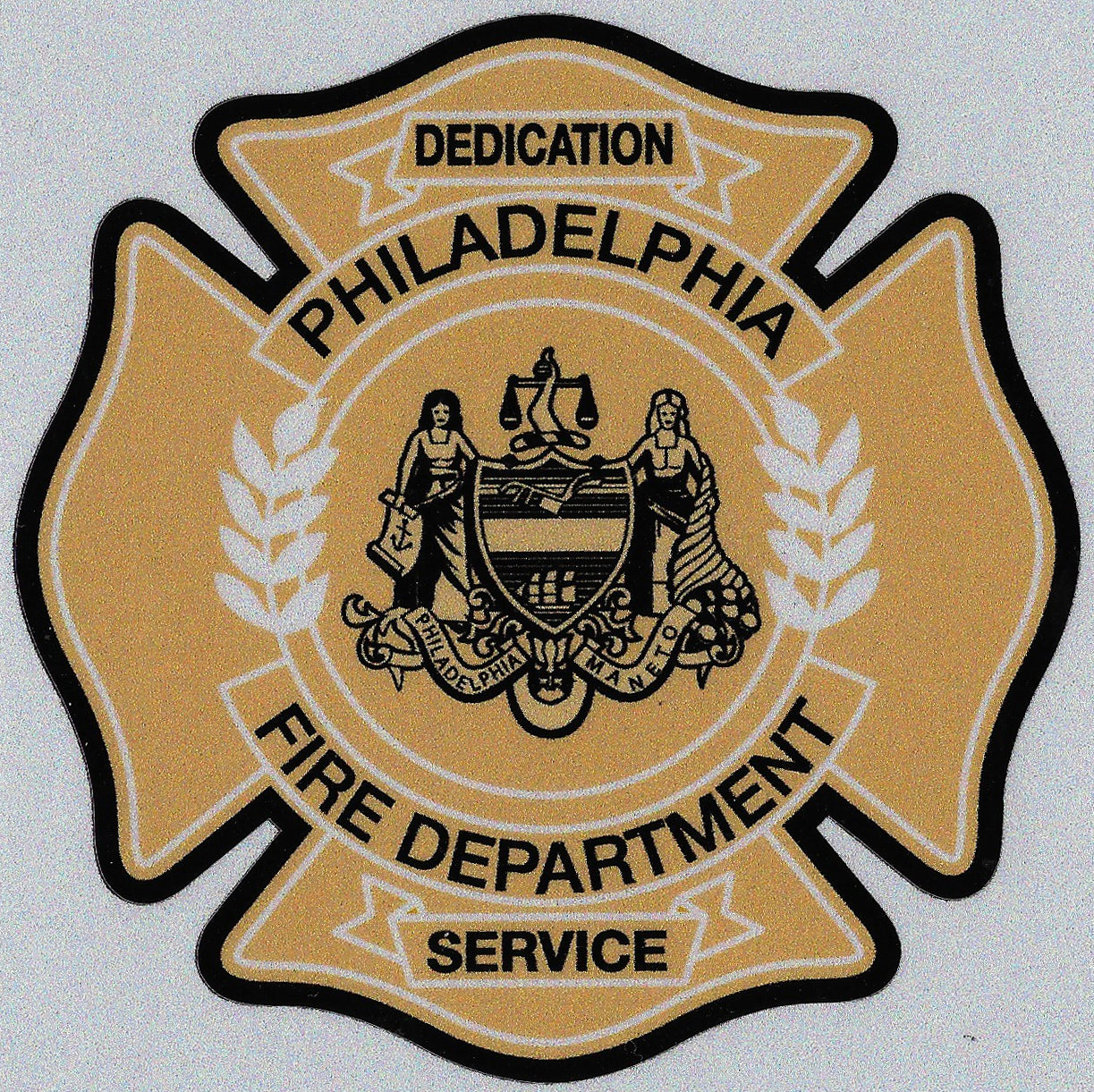 "Philadelphia Fire Department 4"" Vinyl Decal"