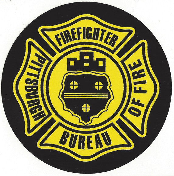 "Pittsburgh Fire Dept. 4"" Vinyl Decal"