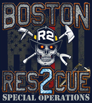 Boston Rescue 2 New Navy Tee