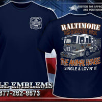 "Baltimore Engine 52 ""Animal House"" Navy Tee"
