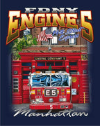 FDNY Engine 5 14th St. Express Multicolored Tee