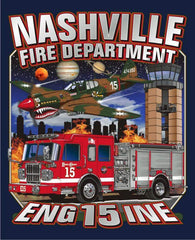 Nashville Engine 15 Flying Tiger Navy Tee