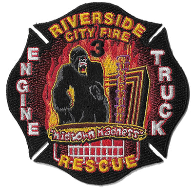 Riverside City, CA Engine 3 Truck 3 Fire Patch