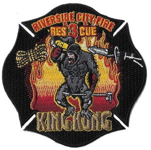 Riverside City, CA Rescue 3 King Kong Fire Patch